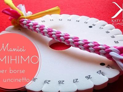 ♡ [Tutorial #12] Kumihimo | Manici borse uncinetto | Handles bag ♡