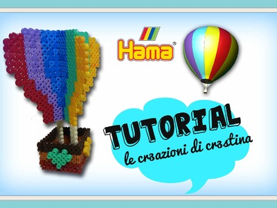 Mongolfiera 3D con HAMA BEADS.Perler beads - DIY Hot-Air Baloon Tutorial