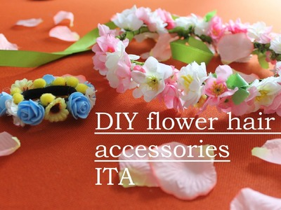 DIY flower hair accessories-ITA