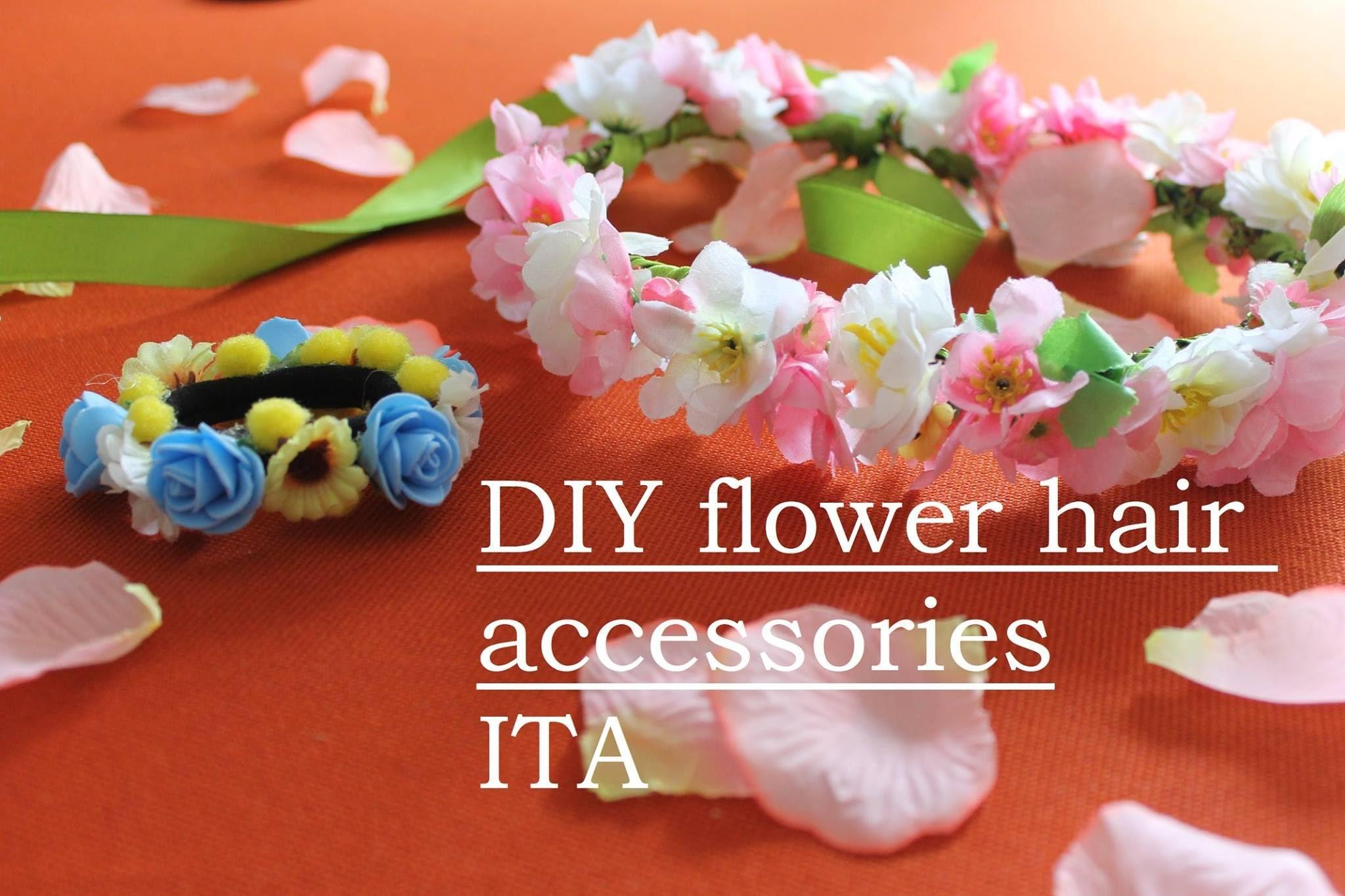 DIY flower hair accessories-ITA