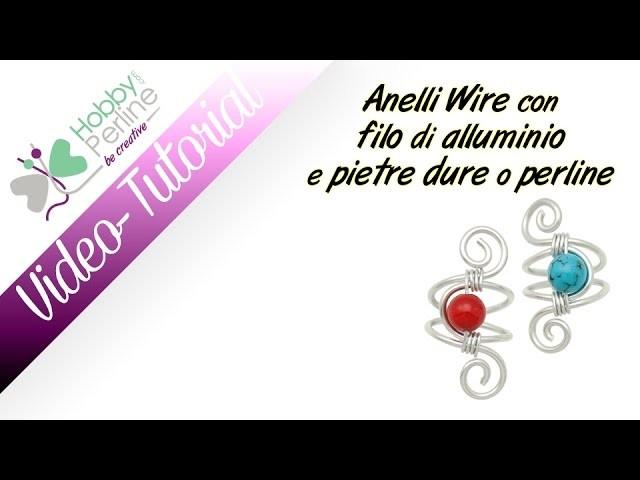 Anelli Wire con filo di alluminio e Pietre Dure o Perline | TUTORIAL - HobbyPerline.com