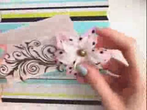 DIY - Vintage Flower card w.Perfect Pearls