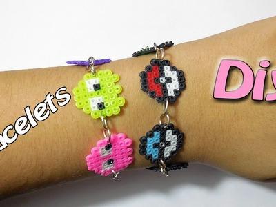 Diy Hama Beads Braccialetti Pokeball,Pac Manc.Perler Bead Bracelets