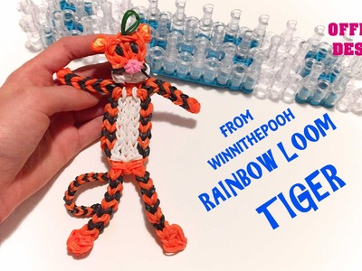 Tigro CON ELASTICI rainbow loom tiger official design from winnie the pooh