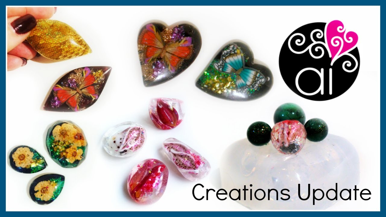 Creations Update 1 di 2 | Resin & Resin Molds| Polymer Clay | Wire Wrapping | Calchi in vendita