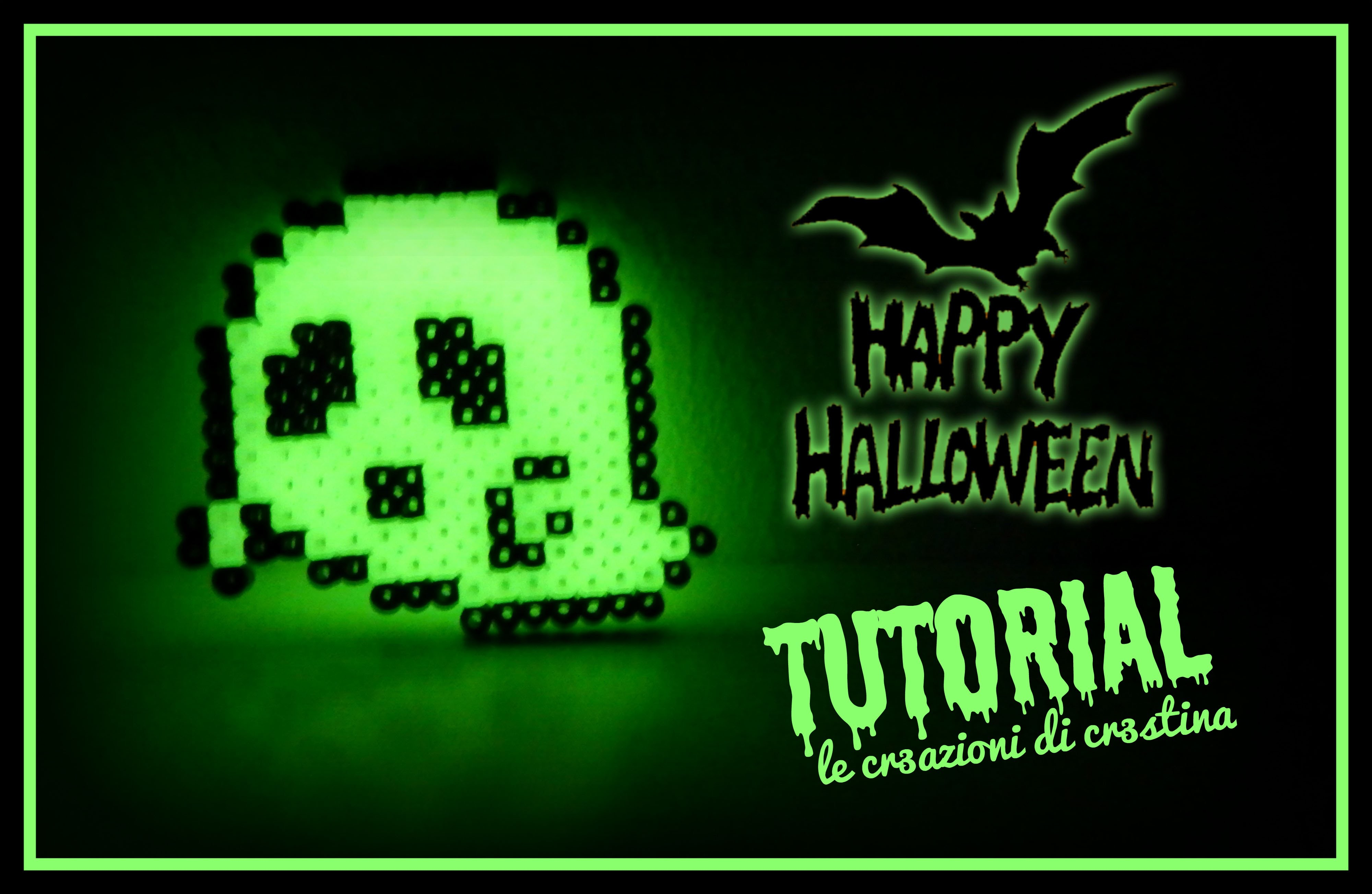 Baby Fantasma con HAMA BEADS Glow in the Dark - DIY Perler beads Ghost HALLOWEEN Tutorial