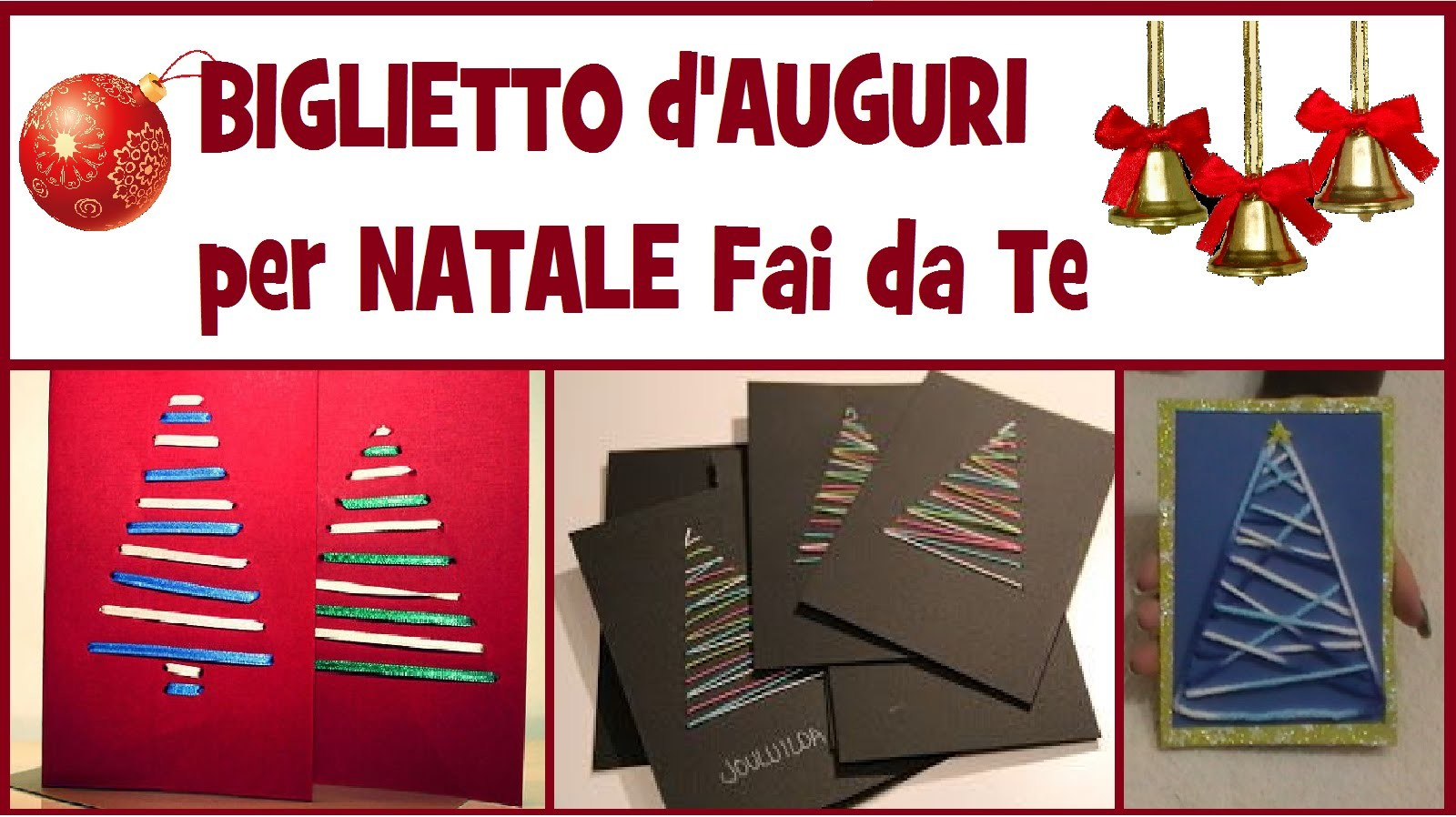 Biglietto d'Auguri per Natale Fai da Te - DIY CHRISTMAS GREETINGS CARD