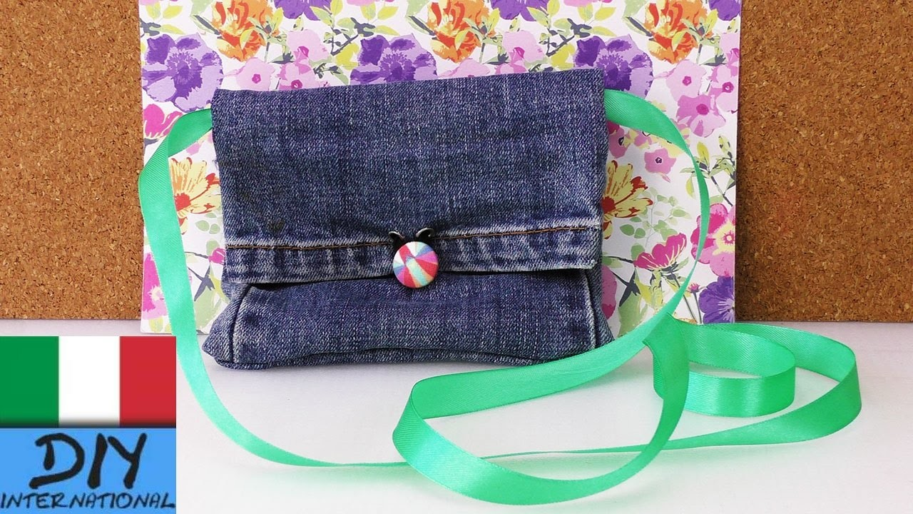 DIY Recycling Jeans | Borsa Portemonnaie fai da te con vecchi Jeans | Fashion