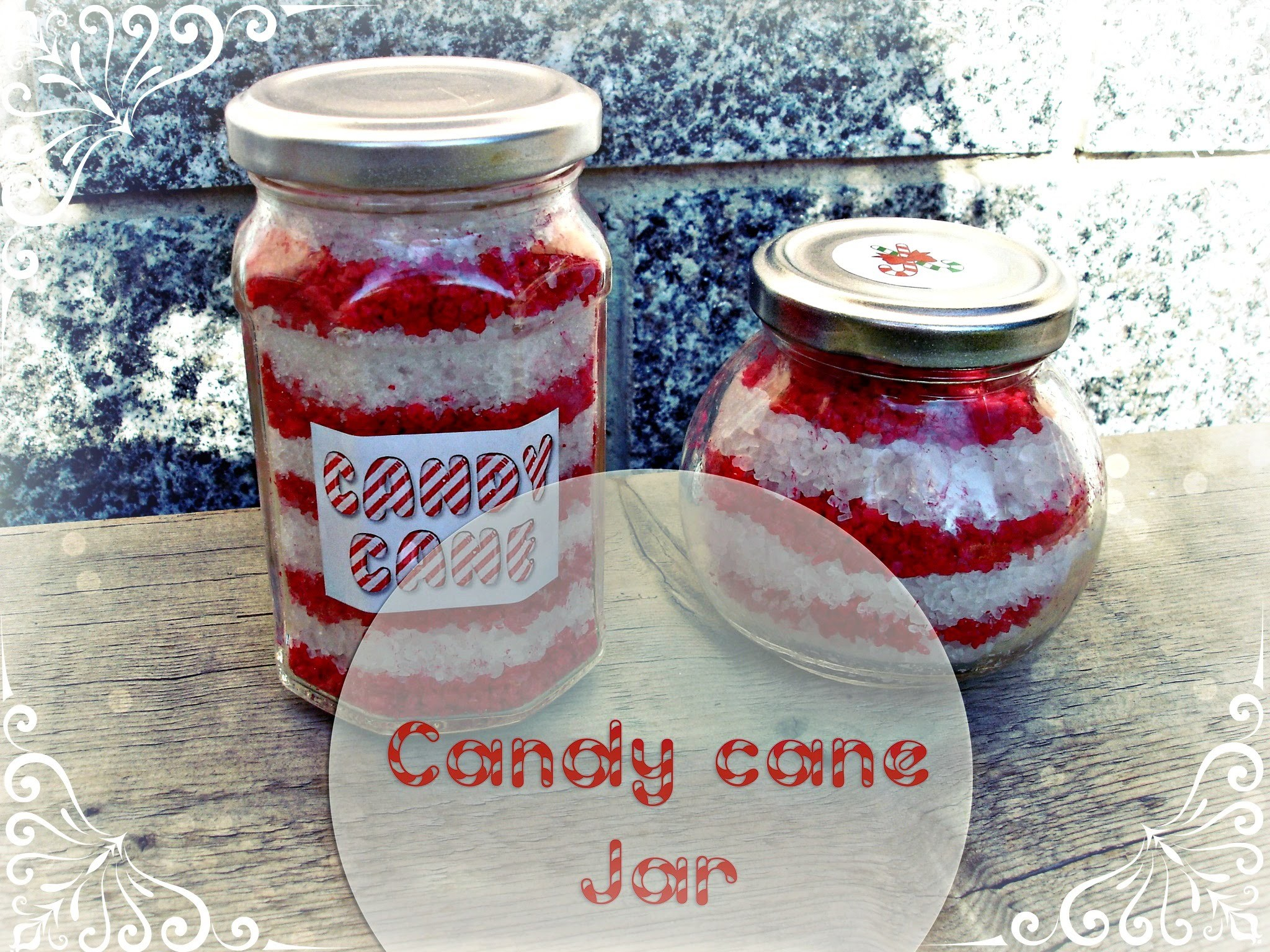 DIY: Candy Cane Jar ❆