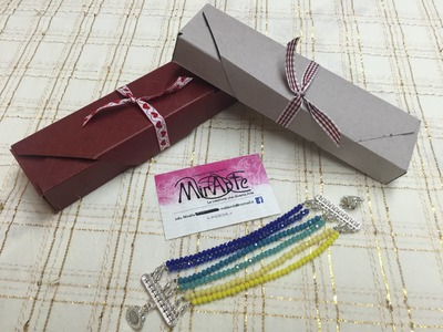DIY tutorial Scatola Bijoux per bracciale con Envelope Punch Board
