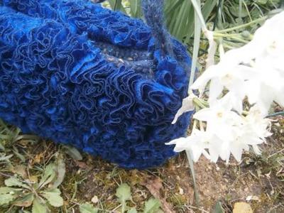 Borsa  maglia rasata con lana volant 2