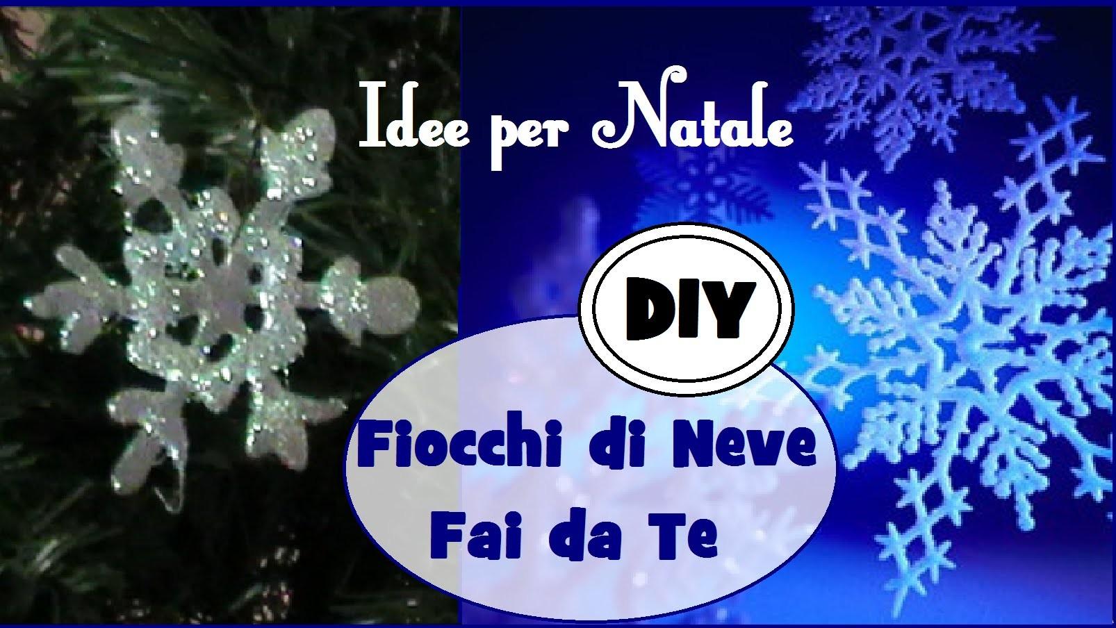 Decorazioni di Natale: Fiocco di Neve in un minuto - DIY SNOWFLAKES