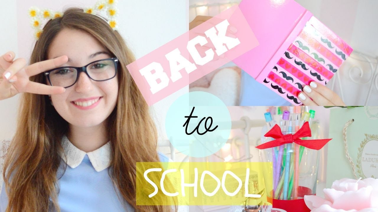 BACK TO SCHOOL 2015 - DIY SUPER CUTE SCHOOL SUPPLIES | itsLucretia