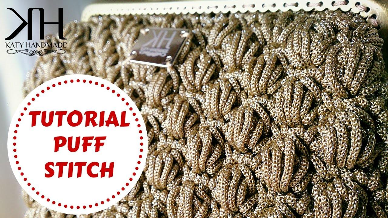 ★ [Tutorial uncinetto #18] Puff stitch   Crochet tutorial   Katy Handmade ★
