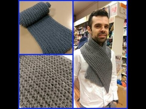 Classica sciarpa da uomo all'uncinetto (Tutorial) - How to crochet a Scarf