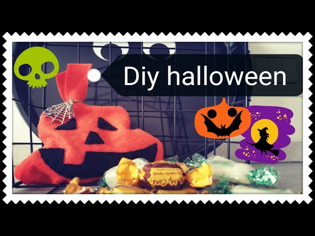 Diy: Tutorial halloween trick or treat bag. Diy: Tutorial Halloween porta caramelle