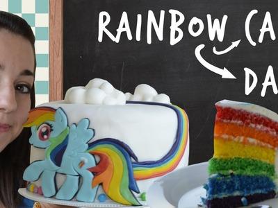 Rainbow Cake Rainbow Dash - Nerd Kitchen