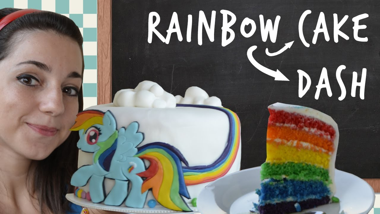 Rainbow Cake Rainbow Dash - Nerd Kitchen