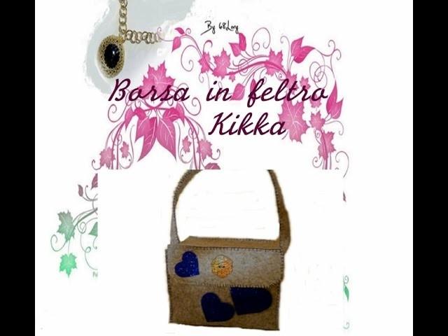 DIY:Borsa di feltro Kikka