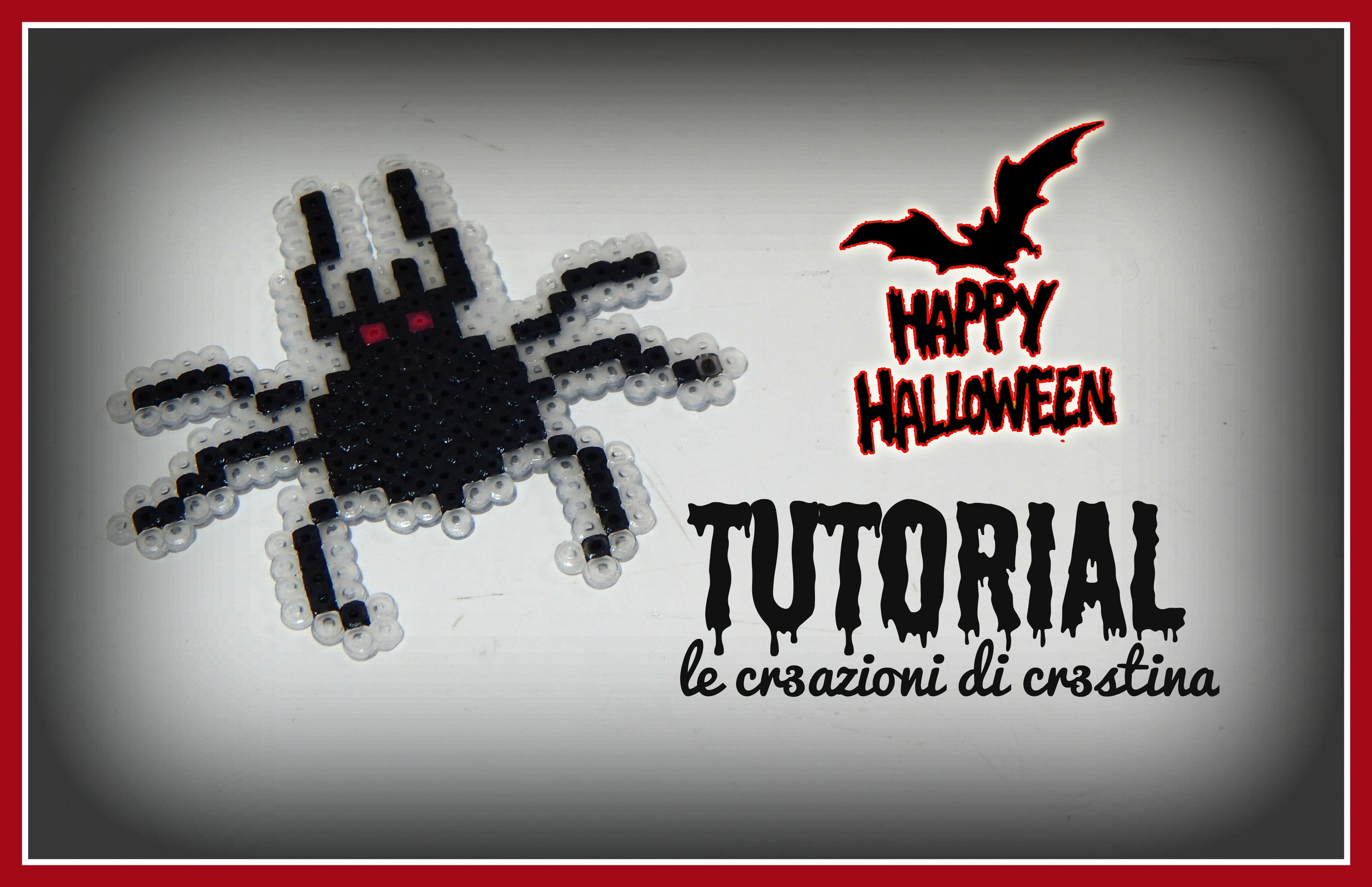 Ragno per Halloween con HAMA BEADS - DIY Spider Tutorial
