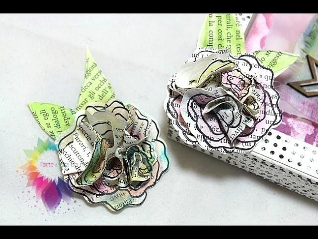 Fiori 3D Tutorial-Fiori Fai da te-Riciclo creativo carta-Flowers DIY