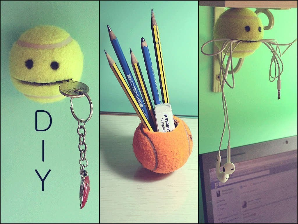 DIY with TENNIS BALL ❤