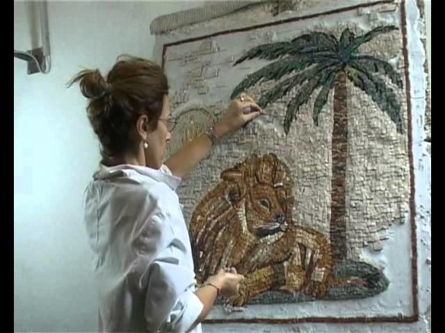 MOSAICO - LEONE - - SISAM Scuola Internazionale Studi d'Arte del Mosaico e dell'Affresco.WMV