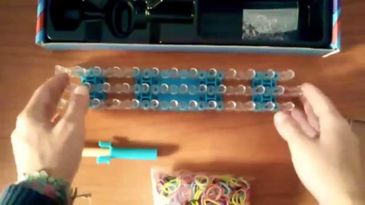 Braccialetti con elastici con telaio. Rainbow Loom™ Kit unboxing telaio ed elastici per braccialetti