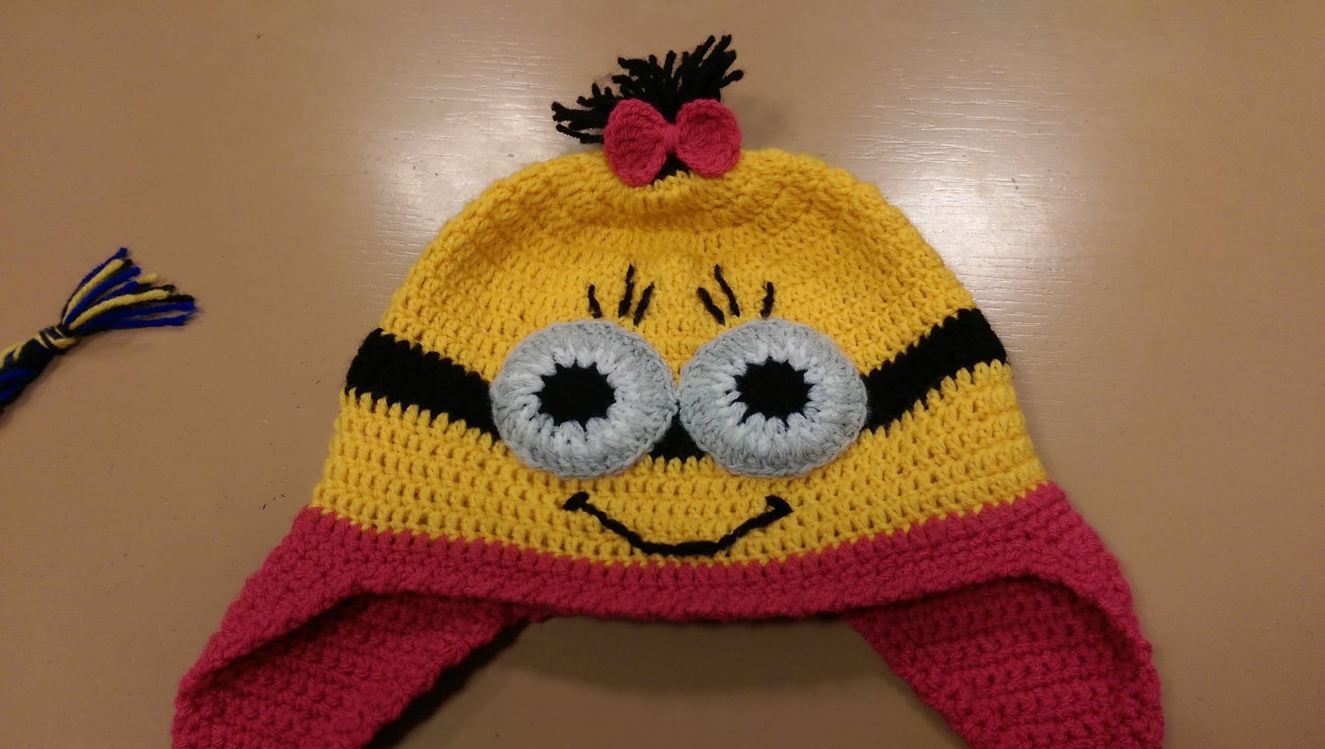 Cappellino Minion all'uncinetto (Tutorial Parte2) - How to crochet Minions Hat