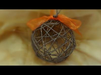 DIY - Tutorial, decorazioni natalizie: pallina per albero di Natale -Christmas ball
