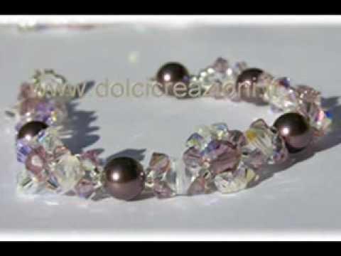 Gioielli in cristallo swarovski realizzati a mano