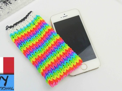 Custodia per iPhone Loom Rainbow - come fare una porta cellulare - calzino loom per iPhone Tutorial