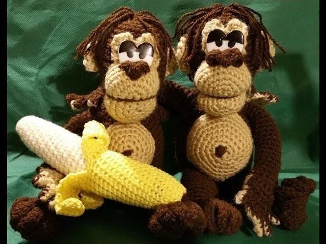 Tutorial scimmia amigurumi orango uncinetto - parte II- zoomigurumi