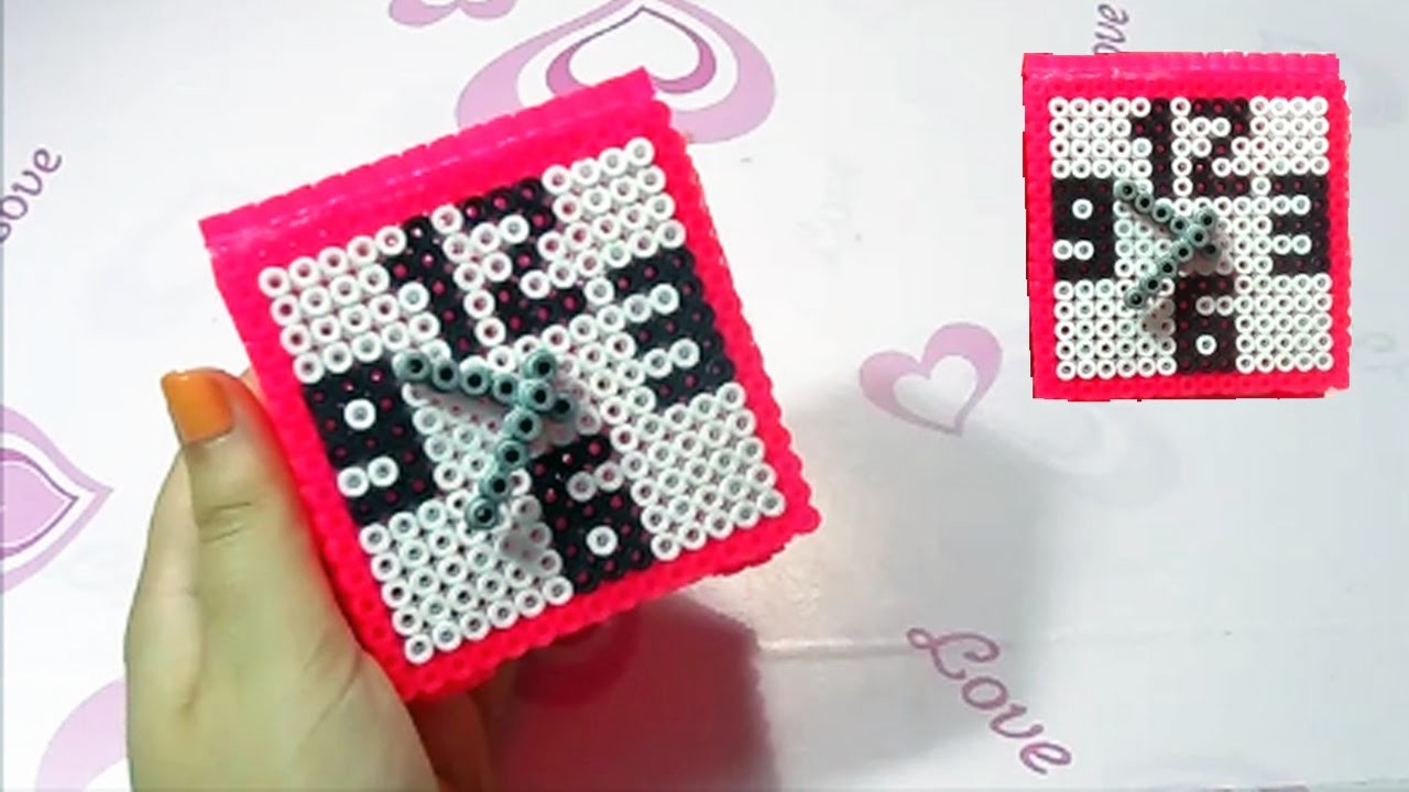 Orologio.Sveglia con Hama Beads✯Watch Perler Bead Tutorial ✯