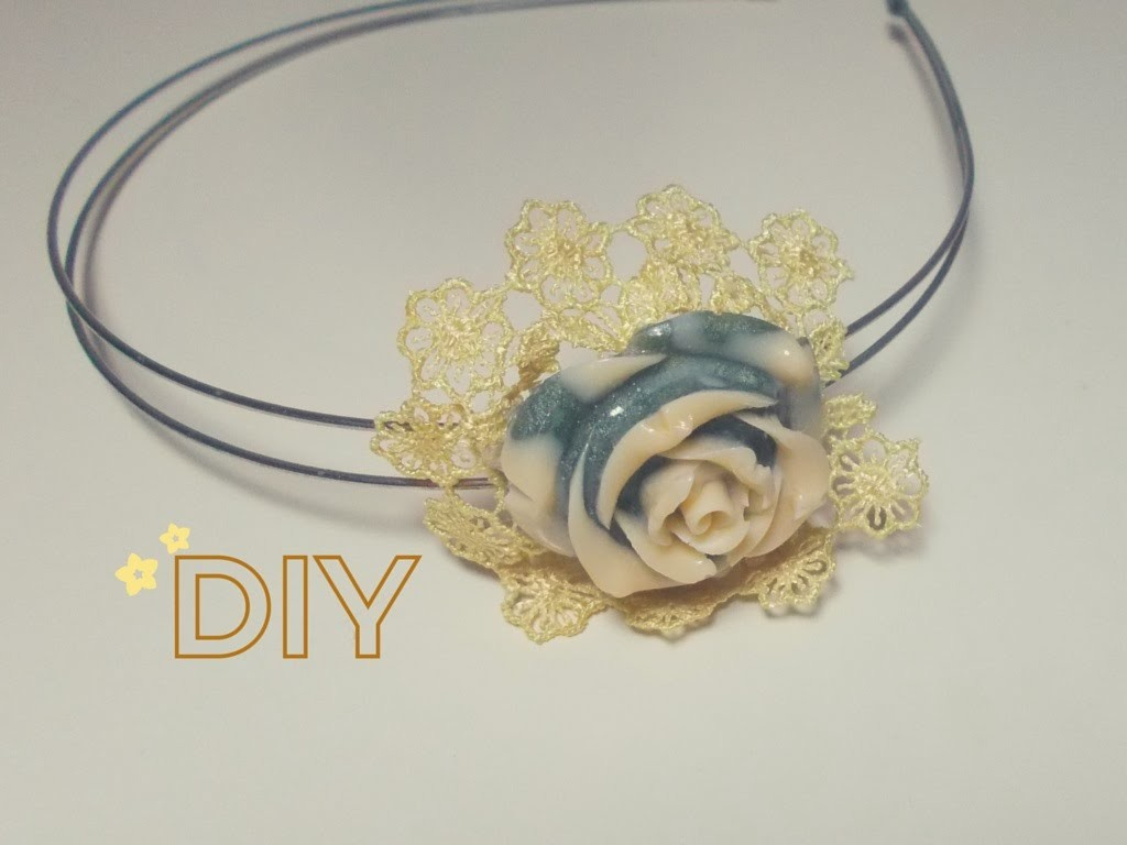 Cerchietto per Capelli Shabby Chic ♡ Tutorial Riciclo Creativo ~ DIY Hairband (Creative Recycling)