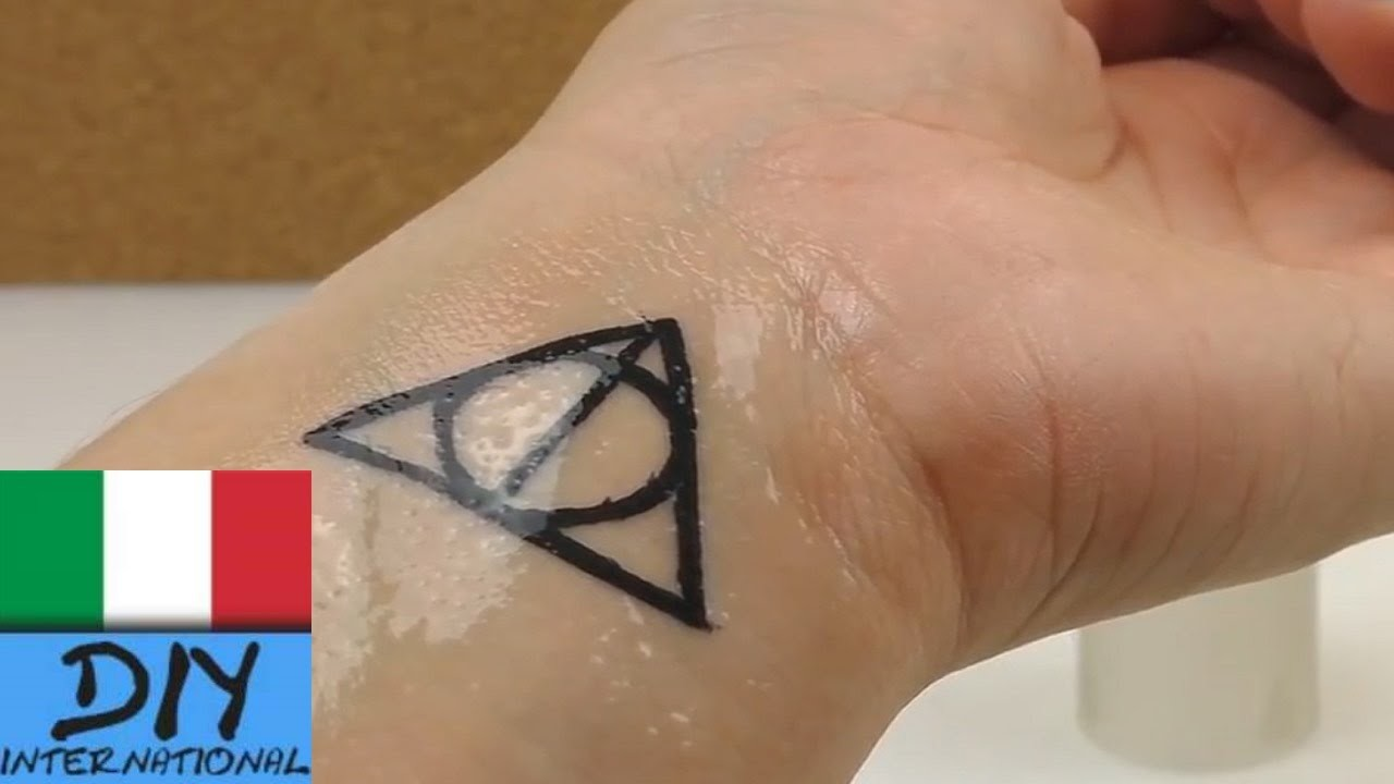 DIY Tattoo Harry Potter Simbolo