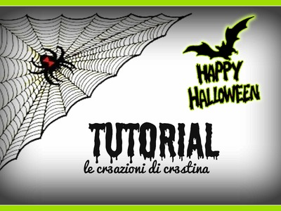 Ragnatela per Halloween con Colla a Caldo e Hama beads - DIY Spider Web Hot Glue Tutorial