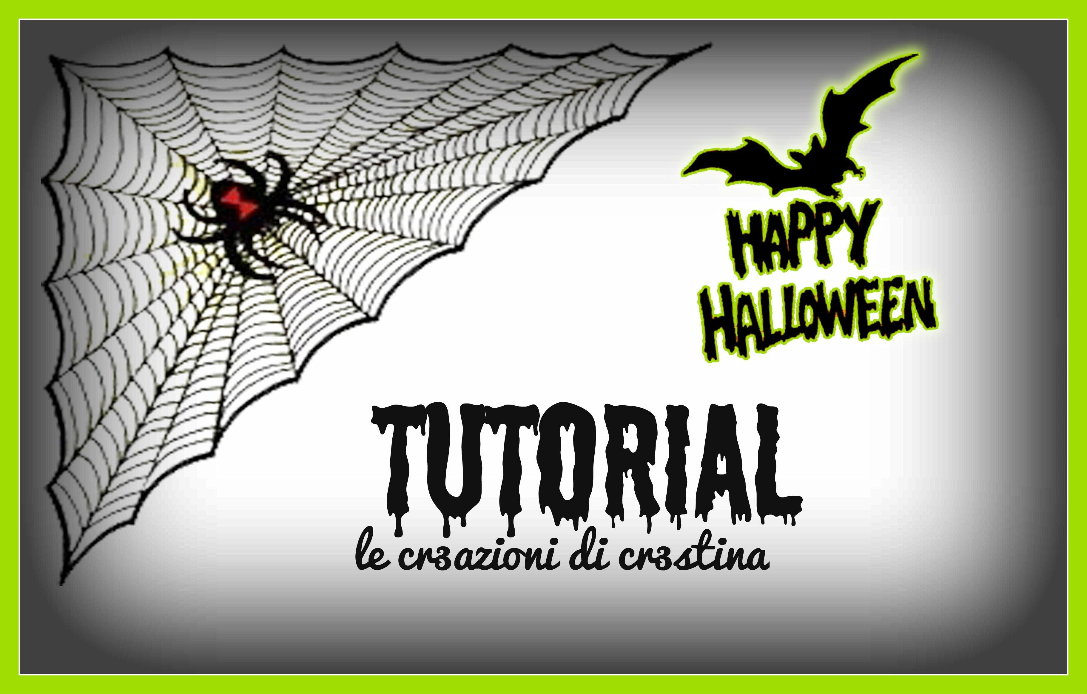 Ragnatela per Halloween con Colla a Caldo e Hama beads - DIY Spider Web Hot Glue Tutorial