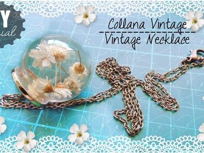 Tutorial: Creare una Collana con Boccetta e fiorellini | DIY Floral Necklace