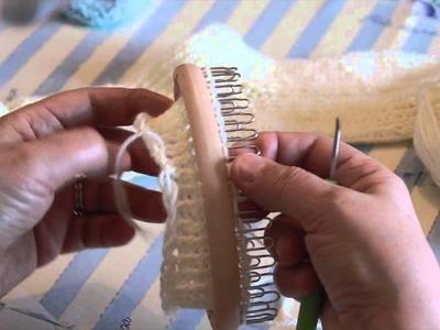 CALZE a mano con telaio - parte 1