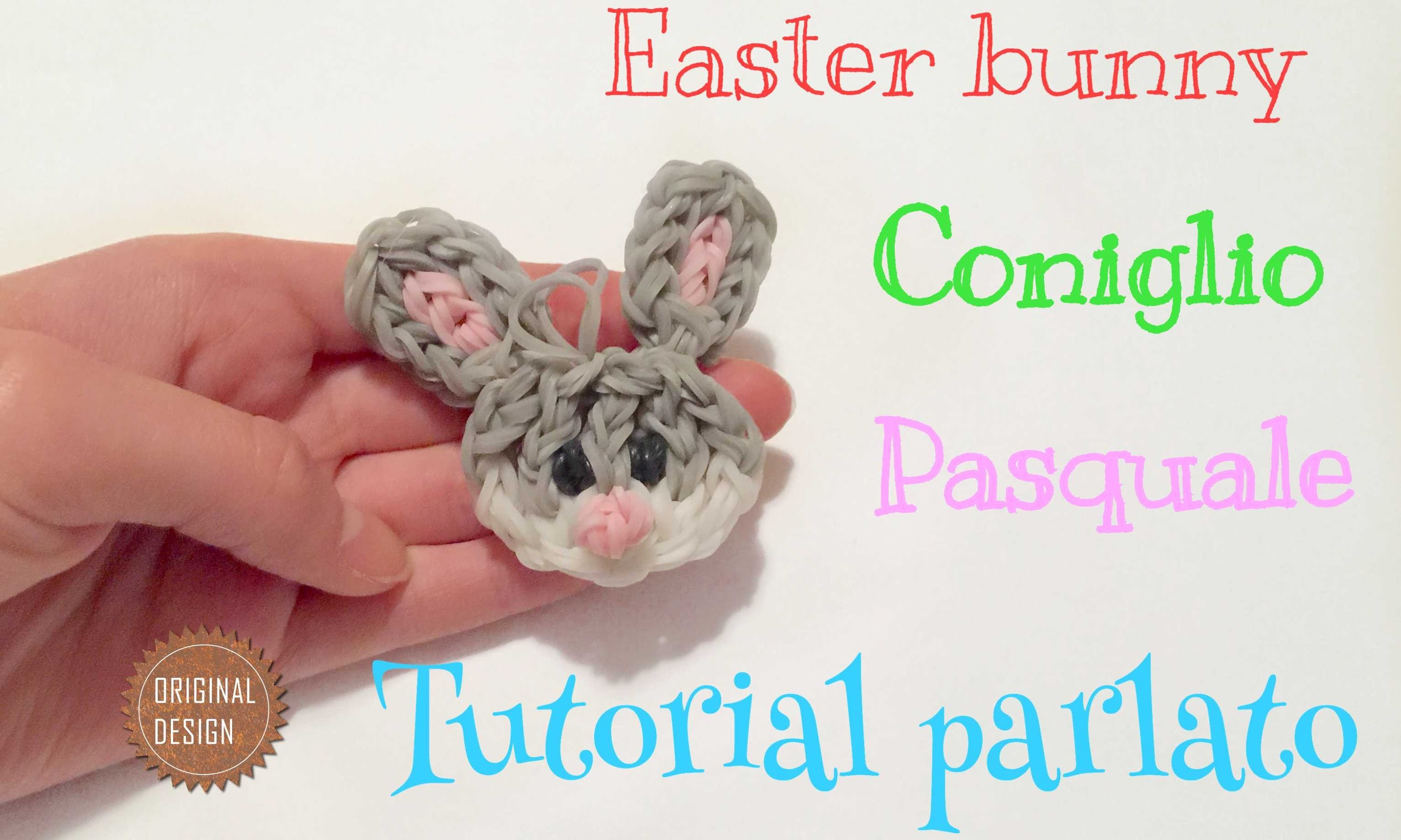 CONIGLIO PASQUALE con elastici RAINBOWLOOM eastwe egg