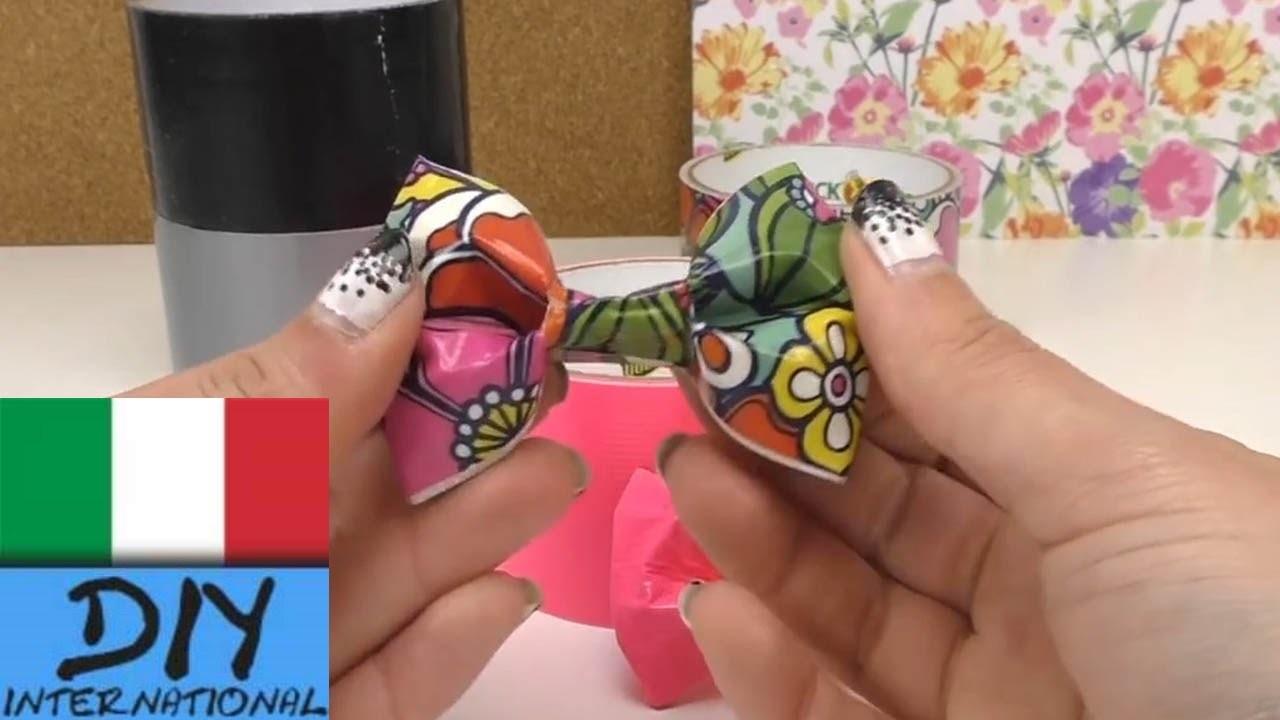 Fiocco con nastro adesivo duck tape. fiocco per decorazione. semplicissimo