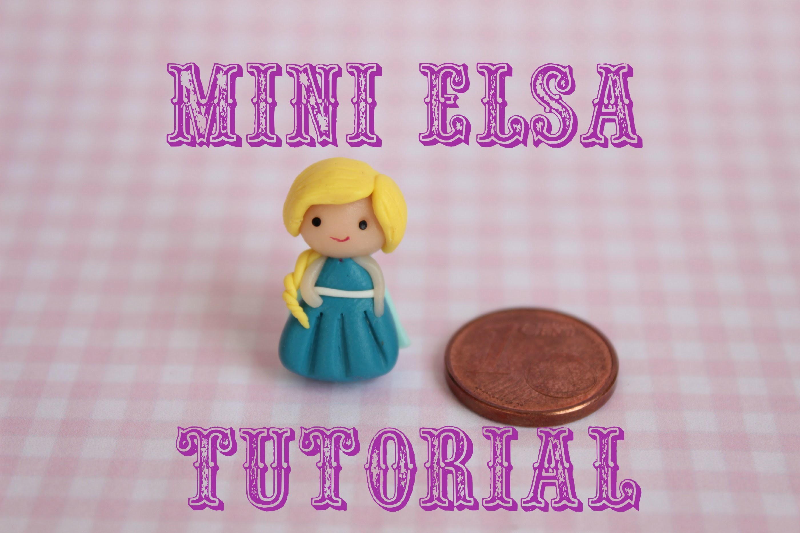 Mini Elsa in Fimo | Mini Elsa in Polymer Clay
