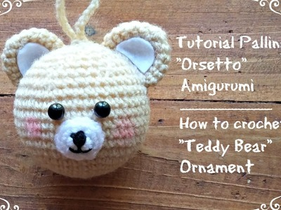 "Pallina di natale ""Orsetto"" Amigurumi 