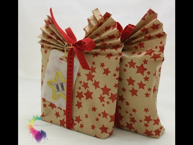 Sacchetto di carta Fai da te-Packaging-Gift Wrapping Paper Bag DIY-Origami Gift Bag TUTORIAL
