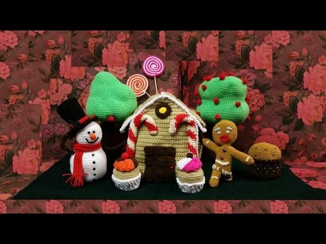 Casetta di marzapane all'uncinetto amigurumi  tutorial crochet gingerbread house
