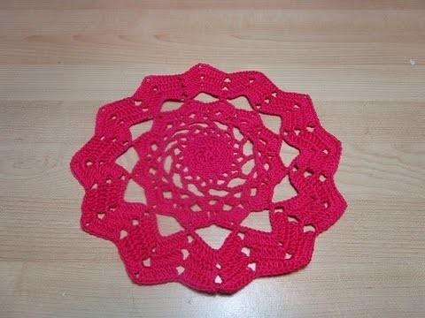 Crochet Uncinetto  Centrino ZIgzag