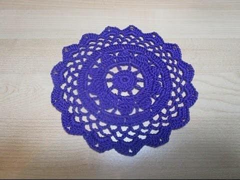 Uncinetto Crochet Centrino Viola