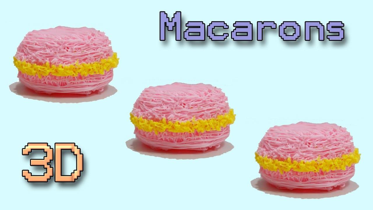 3DSimo:Come fare un Macaron con la Penna che disegna in 3D |Creations 3D Printing Pen Tutorial