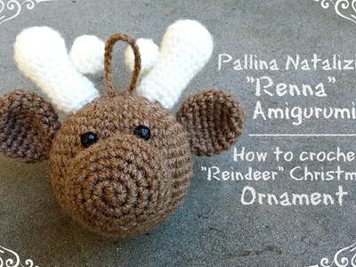 "Pallina natalizia ""Renna"" Amigurumi | How to crochet a ""Reindeer"" ornament"